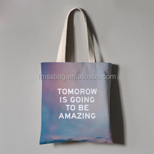 china wholesale cotton canvas tote bag for shopping and advertising promotional