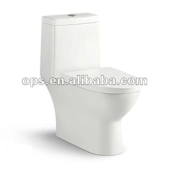 One Piece Toilet with Concealed Trapway
