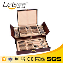 Royal Stainless Steel 72pcs Cutlery Set Spoons Forks Knives Stainless Steel with Wood Case