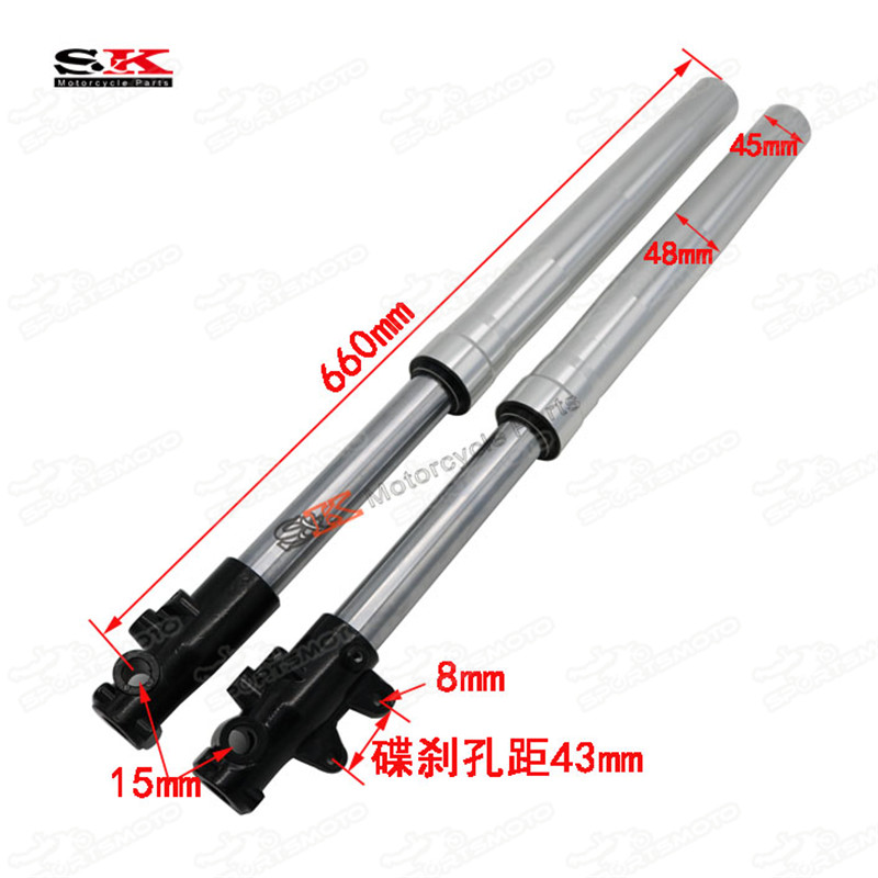 Up-Side-Down Non-Adjustment 45mm 48mm 660mm Front Fork Shock Suspension Absorber For Dirt Pit Bike Motocross