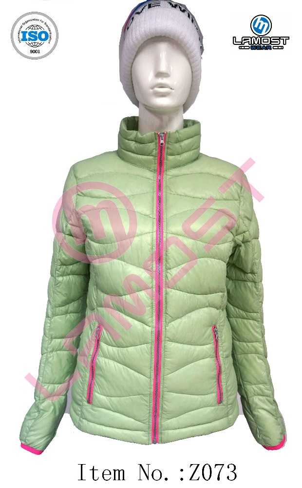 packable ultra light pure color down jacket for women