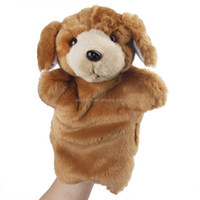 kids performance show prop cartoon animal role character style long hair plush hand puppet