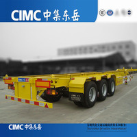 Steel Material 20ft 40ft Selection Container Semi Trailer In CIMC For Export Sale