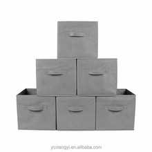oem non woven fabric covered foldable storage boxes bins cubes baskets