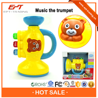 Adorable plastic mini toy trumpet for kids