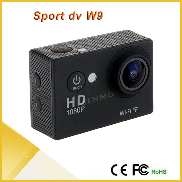Original! FULL HD 1080 WIFI 2.0Inch LCD Screen W9 30Meter waterproof 170 WideAngle Lens action cam