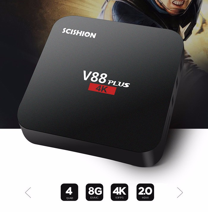 RK3229 V88 PLUS with andriod 5.1 DDRIII 2GB and 8gb 4g kodi android tv box channels list