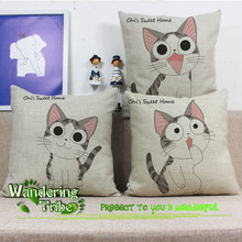 DIY modern concise wholesaler cushion to cover Japanese anime cartoon cat restaurant