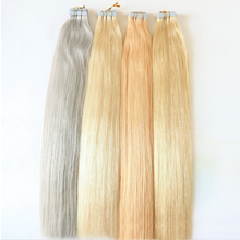 "Wholesale indian virgin remy full cuticle double drawn invisible straight tape in human hair extensions 8""-32"""