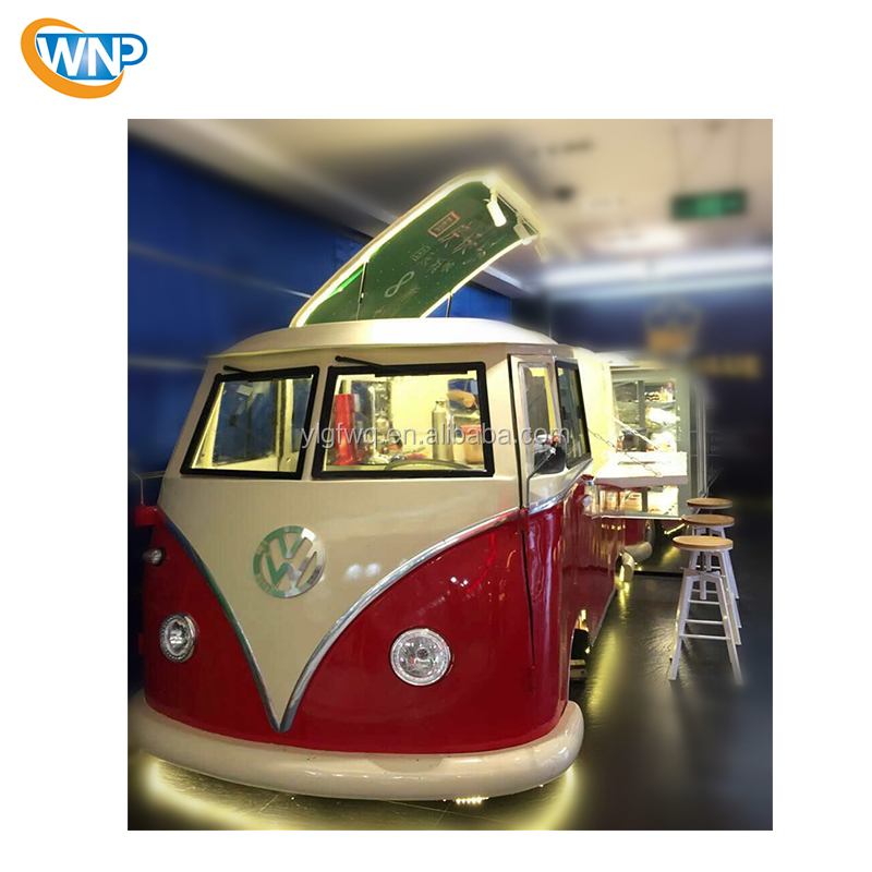 Latest fiber glass mobile food truck with customized inside ice cream/hot dog food trailer mobile fast food truck