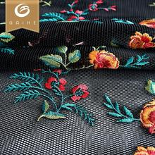 colorful cheap price handfeel wholesale embroidery mesh fabric 100% polyester