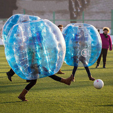 1.5 m PVC inflatable human bubble ball for bubble football game