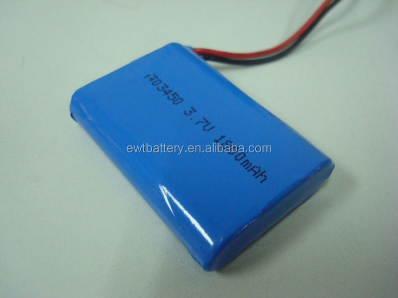 UL1642 CB IEC62133 Lipo 103450 3.7v/7.4V/11.1V 1800mah lithium polymer battery with JST connector NTC