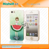 high end plastic waterproof diy phone case for iphone5/5s