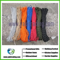 Multicolors Paracord 550 Paracord Parachute Cord Lanyard Rope Mil Spec Type 7Strand 100FT Climbing Camping survival equipment