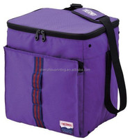 Fashionable wholesale custom 20L purple portable thermos soft insulated lunch cooler bag with compartments