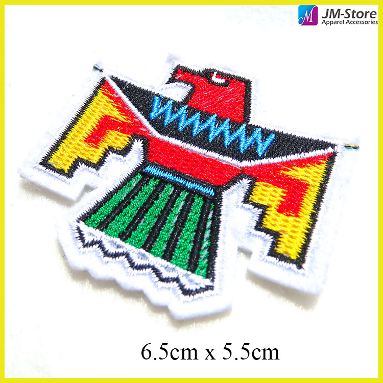 New Products Embroidery Patches Birds Sew on Embroidered Fabric Patches
