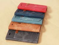 import mobile phone accessories Cowboy Cloth Leather Flip Wallet Case For Iphone 6 6s 4.7 Inch