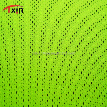 Tear resistant 100% polyester mesh fabric for sportswear,manufacture Yarn Dyed fabric