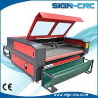 SIGN 1610 roll fabric laser cutting machine/laser cutter for textiles/fabric laser cutting machine price
