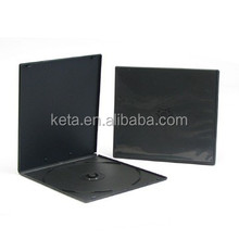 7MM Single Slim Black Cover Short PP CD DVD Case