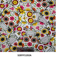 Item No.S28YY1192A Wholesale skull pattern water transfer printing film, hydrographic film