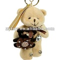 New design very beautiful key chain teddy bear