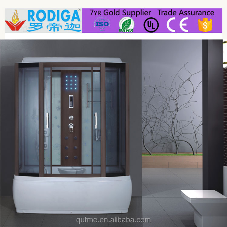 Autme 001 Best Seller Deluxe Bamboo Massage Steam Shower Room with Wood Grain in EU