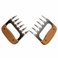 Pulled Pork Shredder Claws, Stainless Steel Meat Claws BBQ Meat Handler Forks for Shredding Handling & Carving Food
