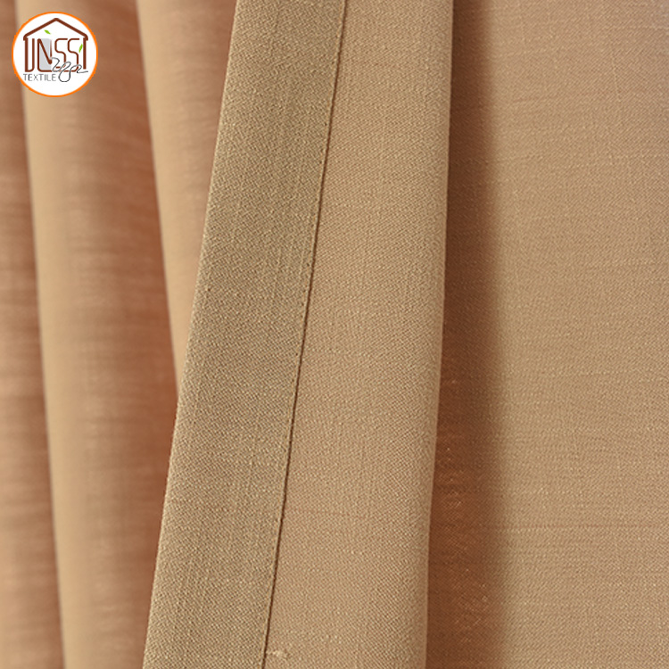 Simple Design Yarn Dyed Cotton Fabric Curtains for Window Door