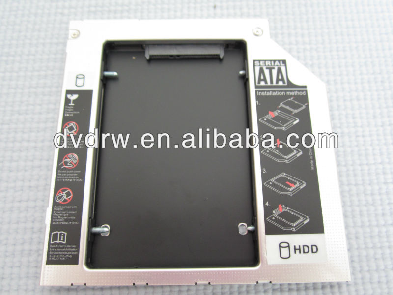 "2nd HDD Caddy 9.5mm 2.5"" SATA-SATA for Laptop"