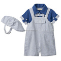 baby boy romper clothing set with hat