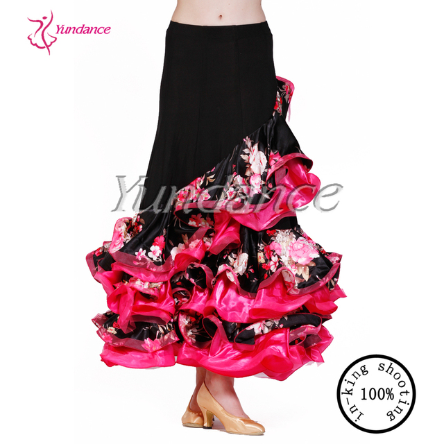 AB035 flamenco dance skirt red ruffle dress women