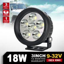 "4x4 camper trailers accessories 12v 3"" round 18watt auto led headlight H4 led car light for jeep wrangler JK"