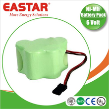 AA 6.0v nimh rechargeable battery pack 6v battery for tools and 6v led headlight