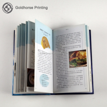 custom professional hardback Custom restaurant menu book printing/ cookbook printing