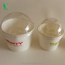 disposable bowls and lids paper bowl disposable ice-cream cup with lids 4 OZ 120ML