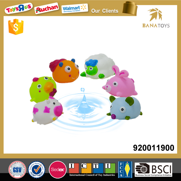 Rubber animal water spray baby bath toy