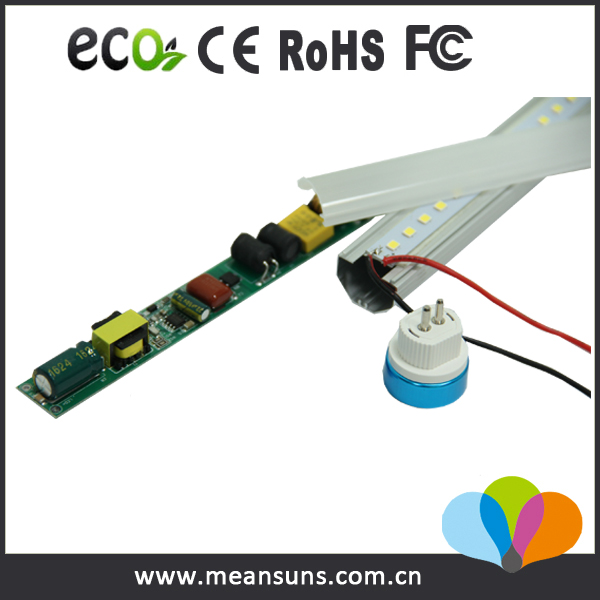 Ballast compatible 140lm/w T5 LED Tube double ended input 1200mm t5 lights and fittings