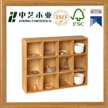 Freestanding Wall Mounted Wooden Display Shelves Storage Box