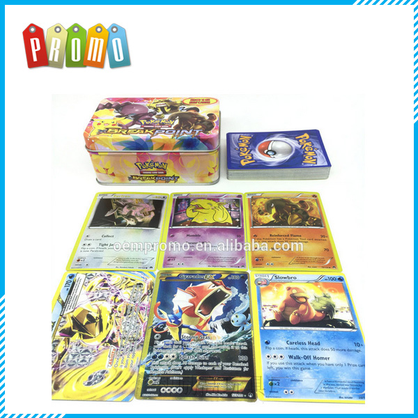 42PCS Pokemon Cards English with Tin box for Children