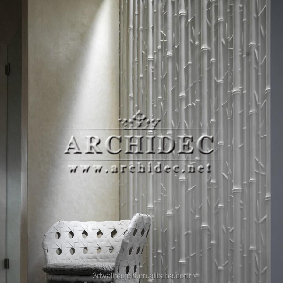bamboo grove design 3d wall panel interior wall coating use for high-end home decor