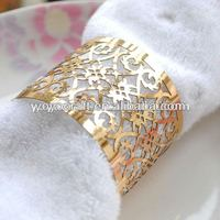 100pcs/lot Fanastic golded color Laser Cut Napkin Ring from YOYO crafts for wholesale and retail