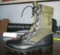 military woodland oxford and leather safty boots with Panama sole