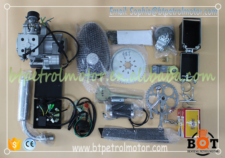Excellent Quality of motorized bicycle engines/electric start&hand start/80cc