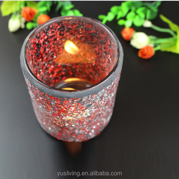 hot sale promotion glass Candle Holder factory price