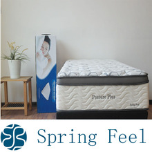 Box Spring Bed and Rol Pack Thin Foam Spring Mattress