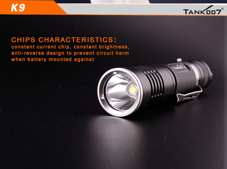 K9 Waterproof and explosion-proof police tactical LED flashlight
