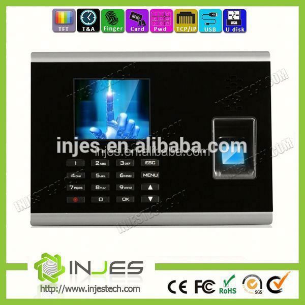 2.8 Inch LCO Displayer Bio Tcp/Ip Time Recording Machine Clock