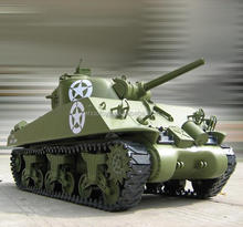 2.4G 6ch Electric powered 1/6 RC Tank M4A3 Sherman Tank 105mm RTR battery RC Tank with controler toys cars for kids